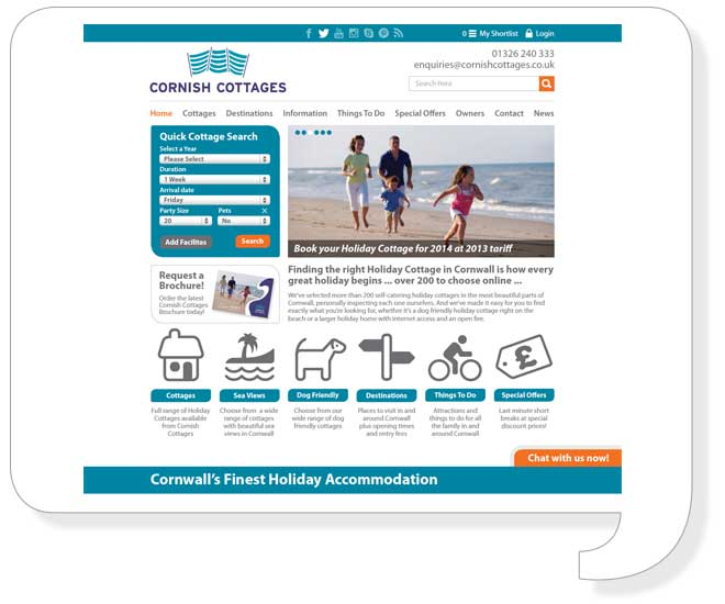 cornish-cottages-website-design