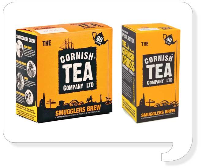Cornish Tea Packaging Design