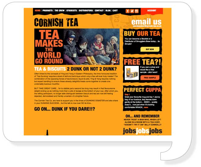 cornish-tea-website-design