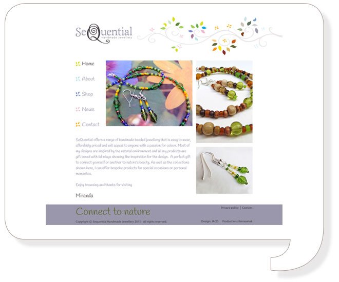 Sequential Handmade Jewellery Website Design