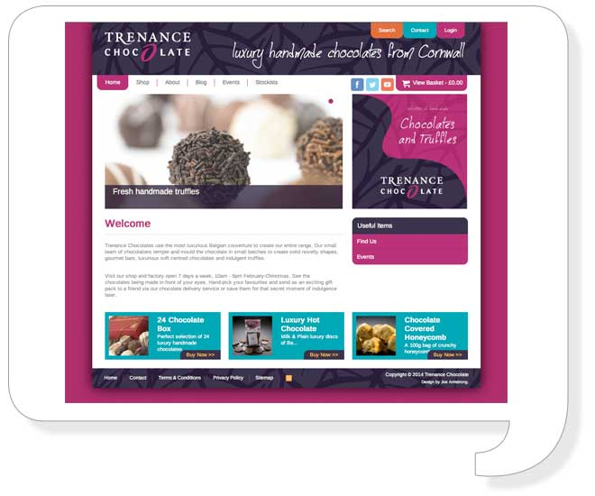 trenance-chocolate-website-design